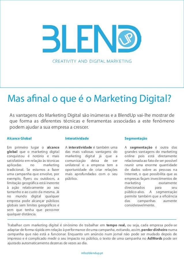 Alcance Global Em primeiro lugar o alcance global que o marketing digital conquistou é notório e mais satisfatório em rela...