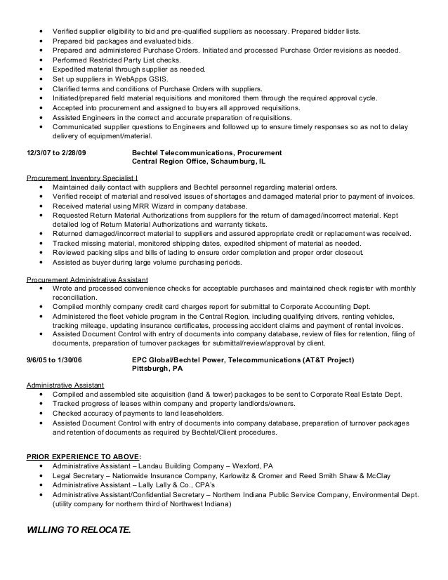 buyer expeditor c sikora resume