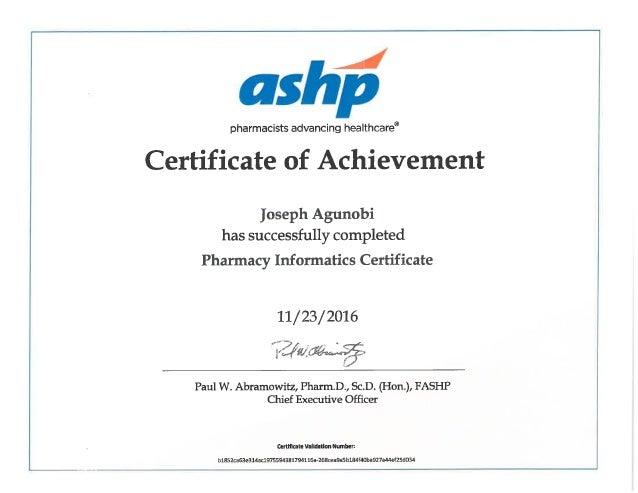 Ashp Pharmacy Informatics Certification