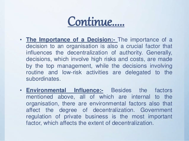 Striking a Balance: Centralised and Decentralised Decisions in Government (WP 02/15)