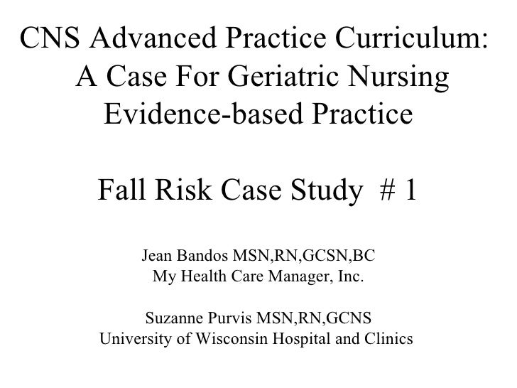 hesi case study gerontology risk for falls