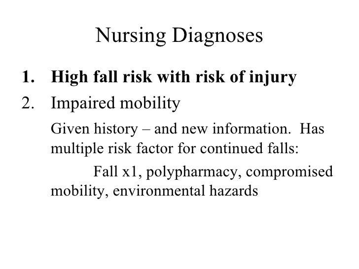 hesi case study gerontology risk for falls