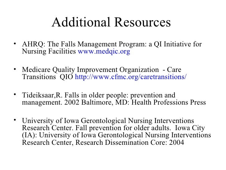 case study fall risk traction It's a national goal to reduce patient falls while patients are in the  the instructor  was engaging and provided excellent case studies with more.