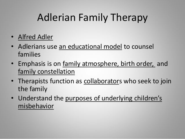 Adelerian therapy