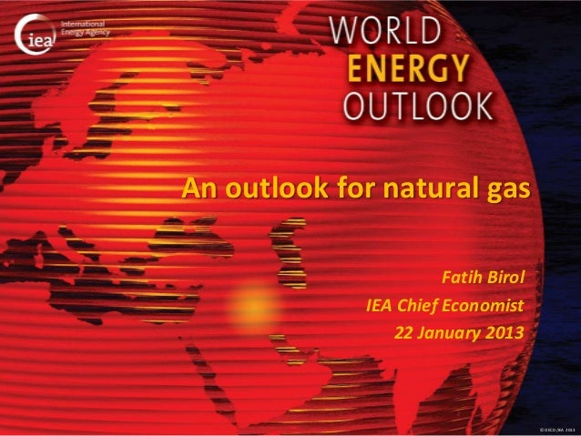 An outlook for natural gas                       Fatih Birol             IEA Chief Economist                22 January 201...