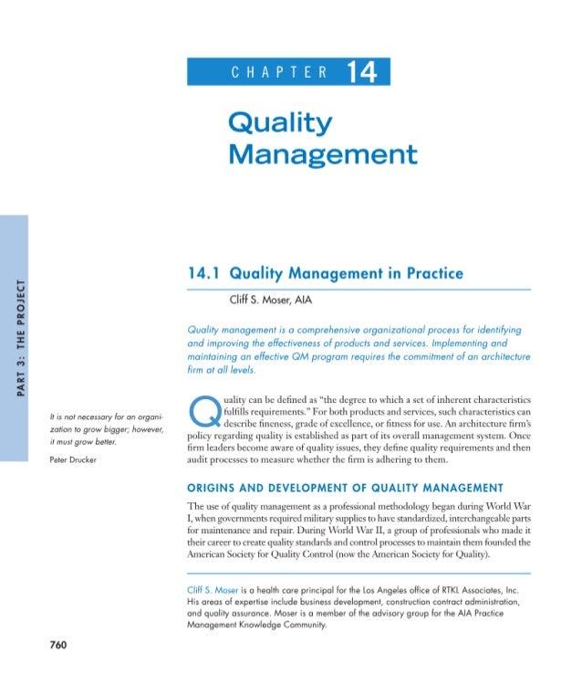Managing Quality - Moser