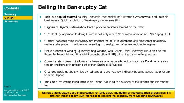 Impact Assessment Insolvency and Bankruptcy Code 2016 Sandeep Jhu – Insolvency Worksheet