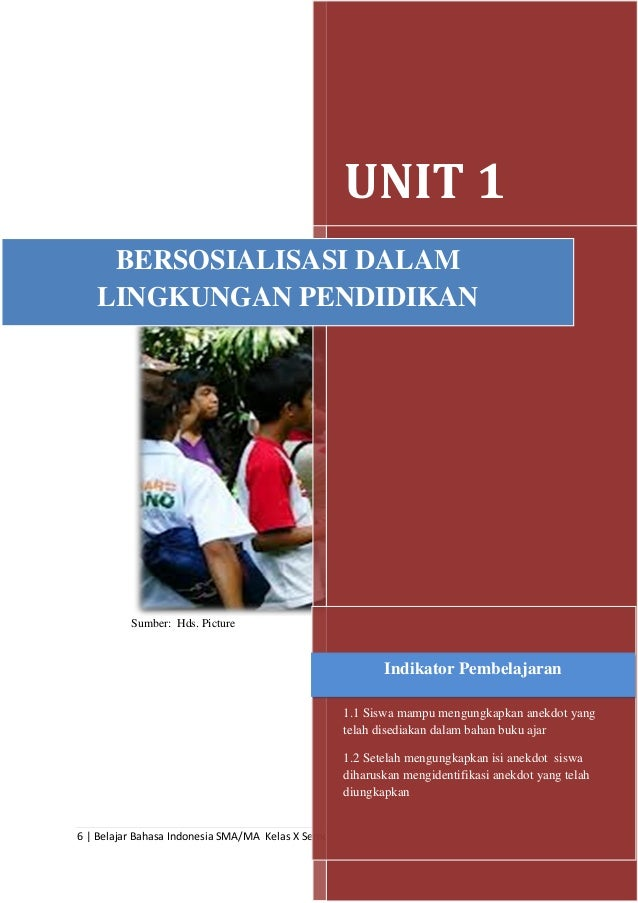 Belajar Bahasa Indonesia Kelas X Semester 2