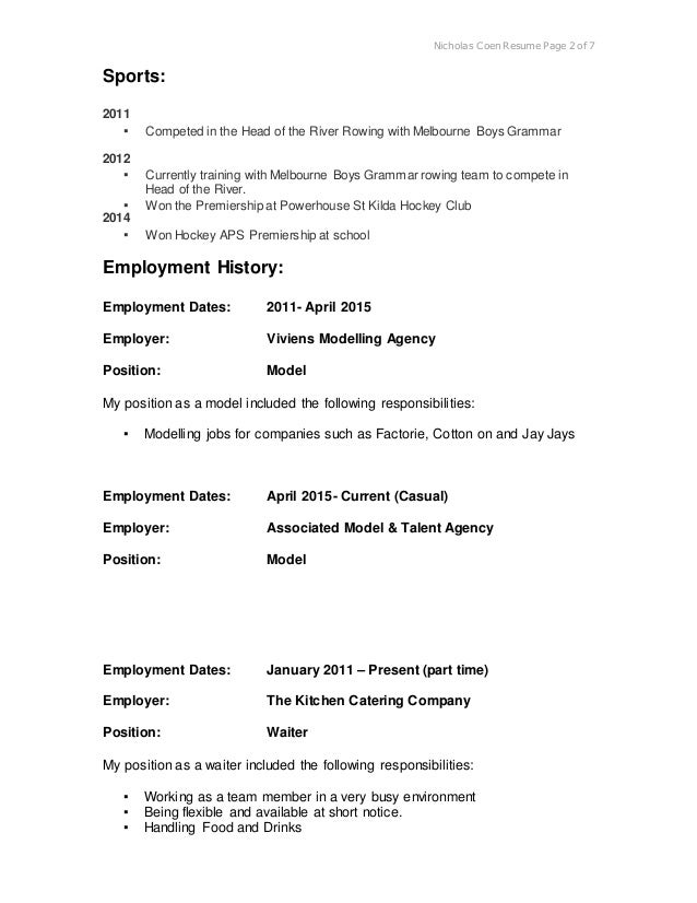 real resume updated