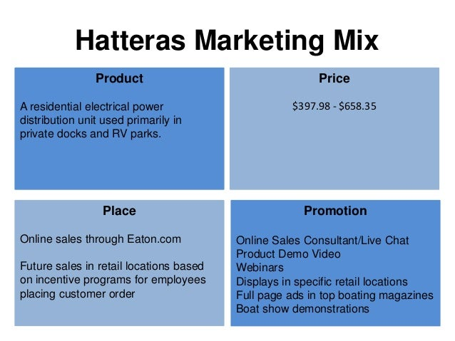 The Marina Marketing Mix