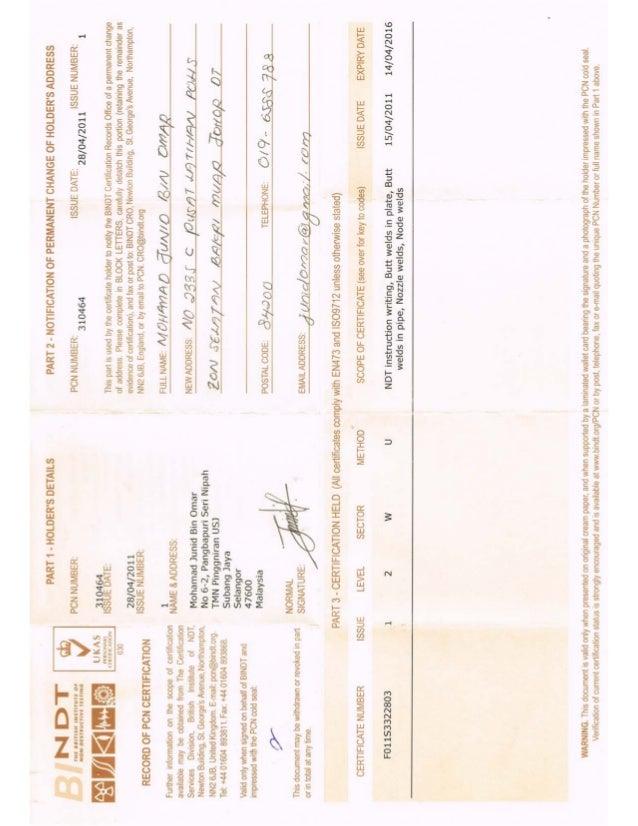 UT - PCN Certificate Mohamad Junid Bin Omar