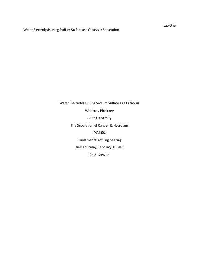 WaterElectrolysisusingSodiumSulfateasaCatalysisLabReport (1)