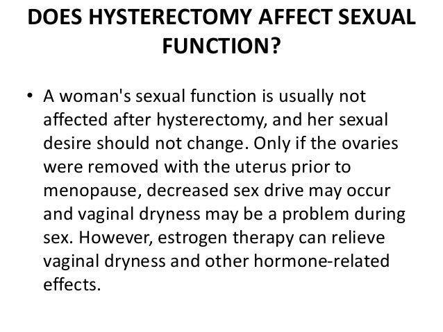 No Sexual Desire After Hysterectomy