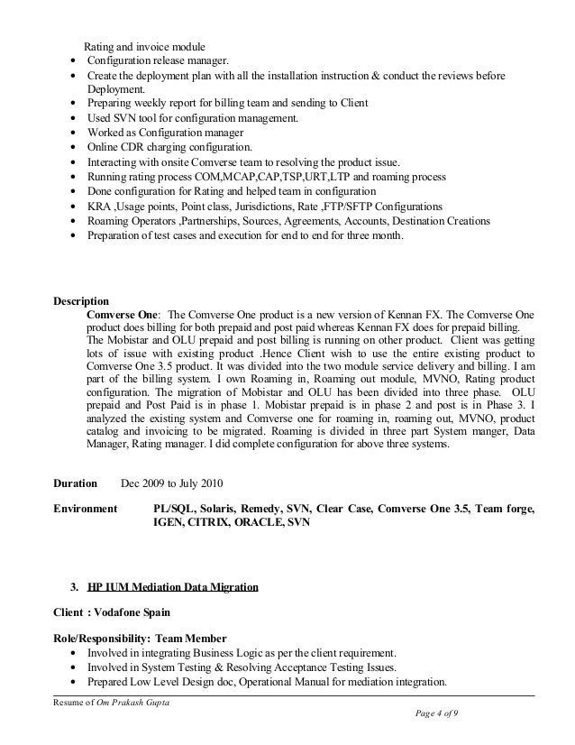 resume 12yrs exp