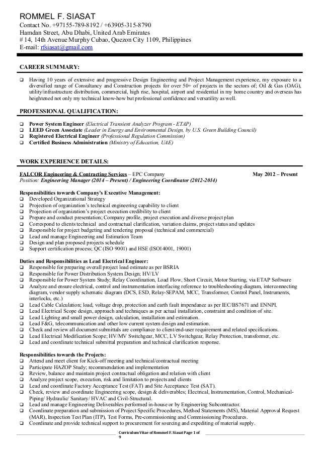 engineering manager resumes