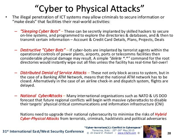 cyber attacks and digital terrorism The united states endures hundreds of millions of digital attacks every day, from  cases of cyber terrorism by nation-states to identity and trade.