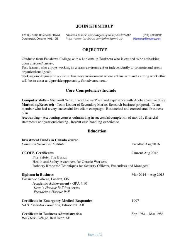 Resume Jan 26 2017