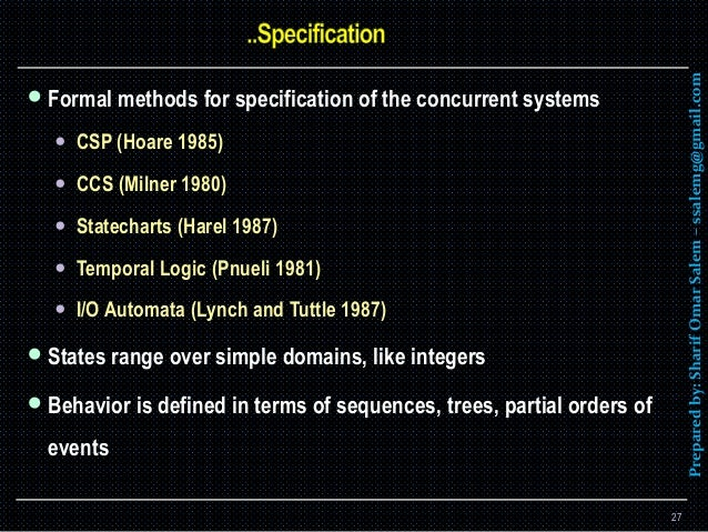 Software Design Methods For Concurrent And Real Time Systems