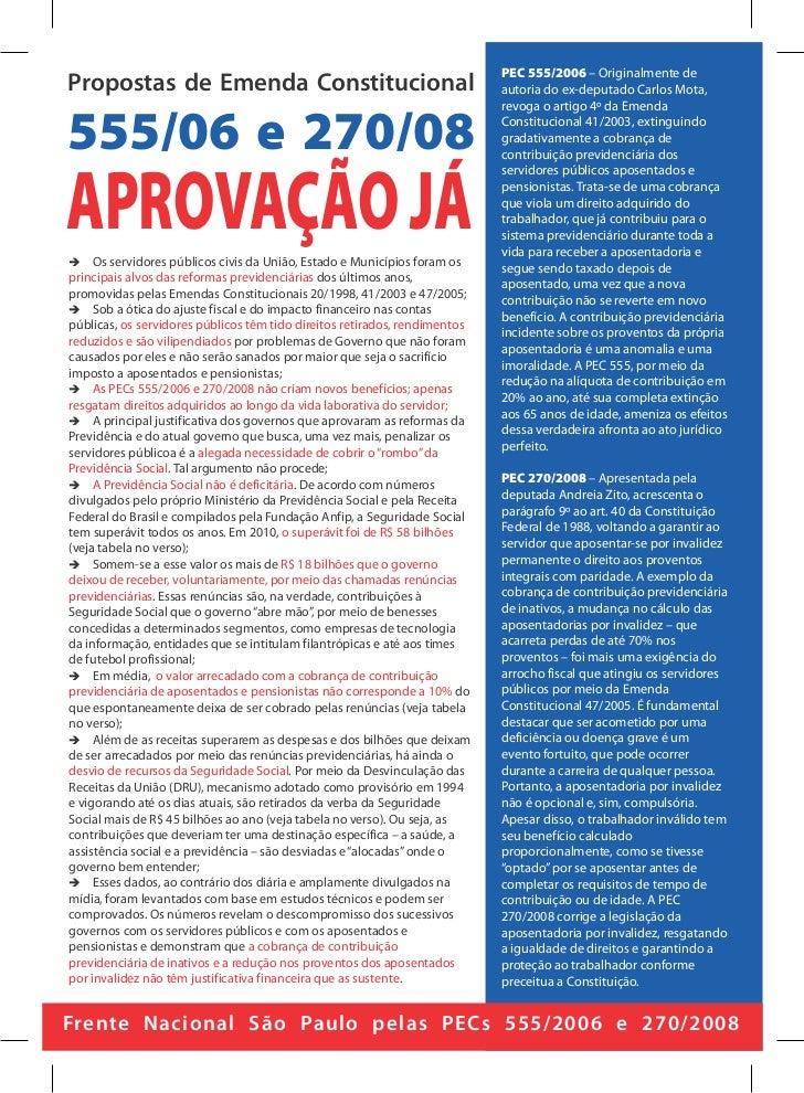 PEC 555/2006 – Originalmente dePropostas de Emenda Constitucional                                          autoria do ex-d...