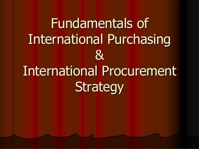 International purchaing