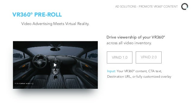 CONTENT SOLUTIONS HOST YOUR VR360° CONTENT