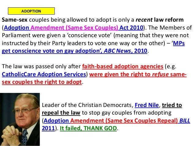 same sex adoption bill nsw in Leeds