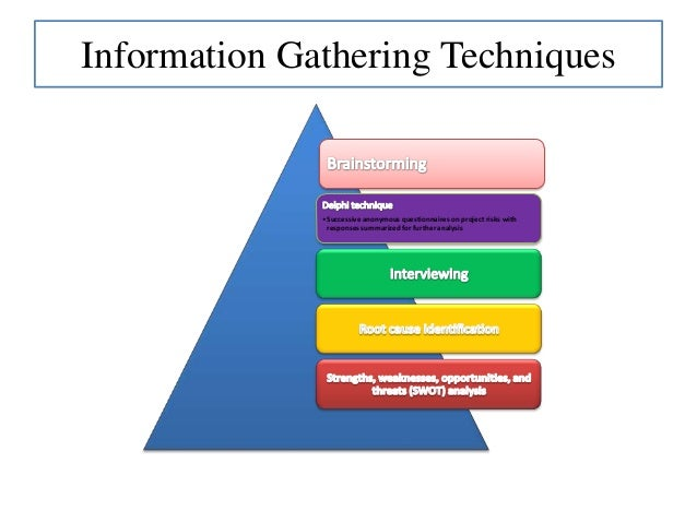 risk identification tools and techniques pdf