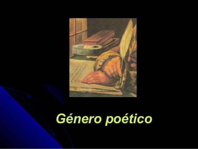 Género poéticoGénero poético