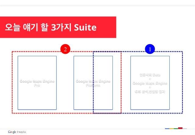 오늘 얘기 할 3가지 Suite Google Maps Engine Pro Google Maps Engine Platform 인문사회 Data + Google Maps Engine + GIS 분석,컨설팅 결과 2 1