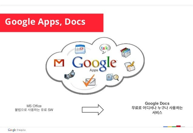 Google Apps, Docs MS Office 불법으로 사용하는 유료 SW Google Docs 무료로 어디서나 누구나 사용하는 서비스
