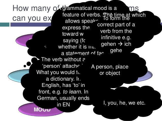 How many of these A part of is a terms                       grammar            A grammatical mood                   sente...