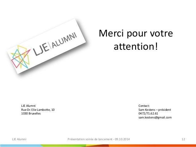 Lancement LJE alumni