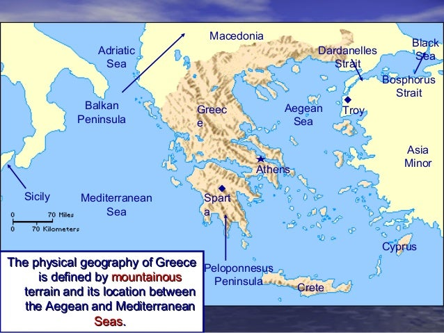 geography geography of greece There are a few similarities between the geography of rome, or italy, and greece, such as mountains, latitude and the mediterranean sea rome itself is bound by mountains on one side and the mediterranean sea on the other, typical geography for much of greece.