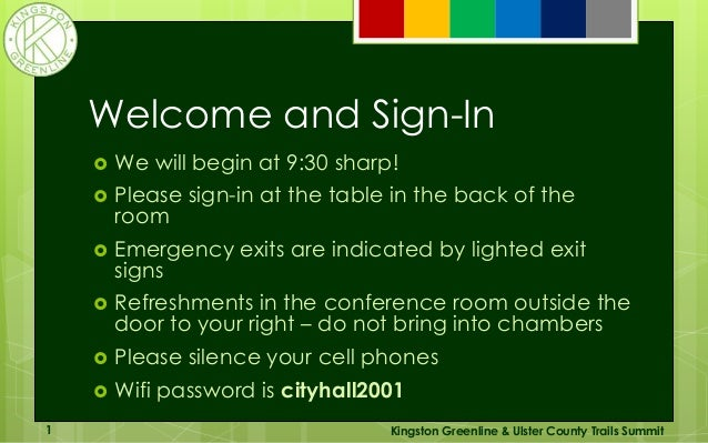 Welcome and Sign-In  We will begin at 9:30 sharp!  Please sign-in at the table in the back of the room  Emergency exits...