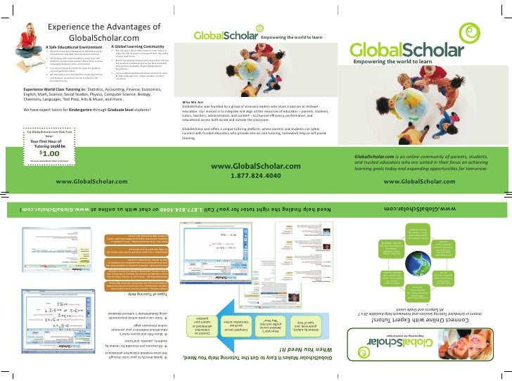 Experience thethe Advantages of                    Experience Advantages of                         GlobalScholar.com     ...