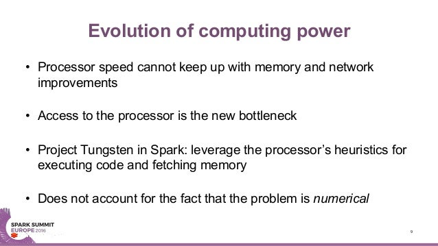 Evolution of computing power • Processor speed cannot keep up with memory and network improvements • Access to the process...