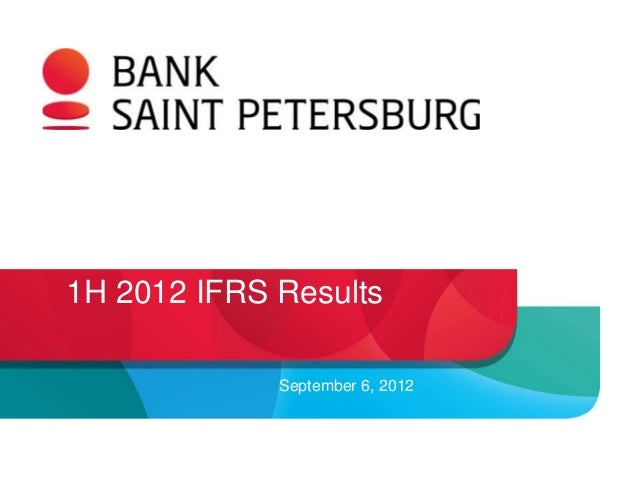 1H 2012 IFRS Results             September 6, 2012