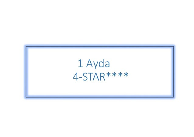 1 Ayda  4-STAR****