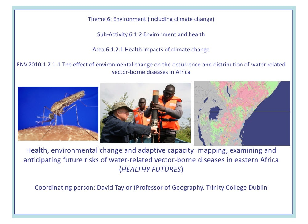 Theme 6: Environment (including climate change)                                Sub-Activity 6.1.2 Environment and health  ...
