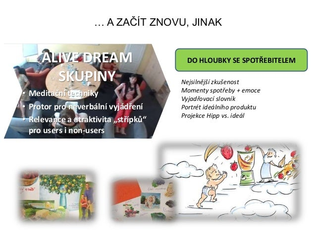 … A ZAČÍT ZNOVU, JINAK ALIVE DREAM SKUPINY • Meditační techniky • Protor pro neverbální vyjádření • Relevance a atraktivit...