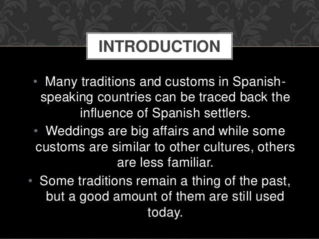 culture spain society customs spanish weddings