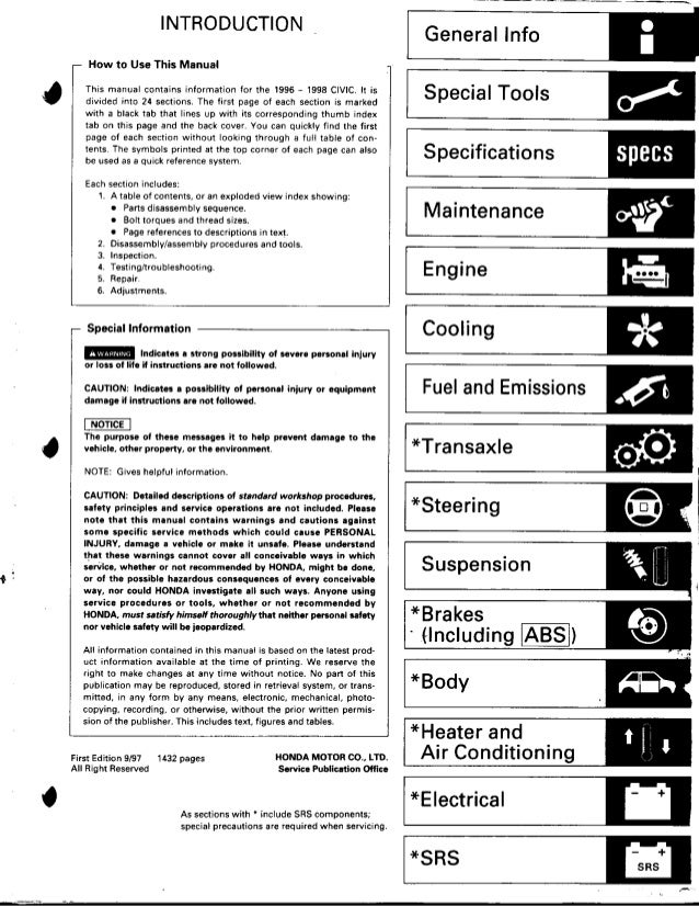 Honda Civic 1997 Manual Pdf