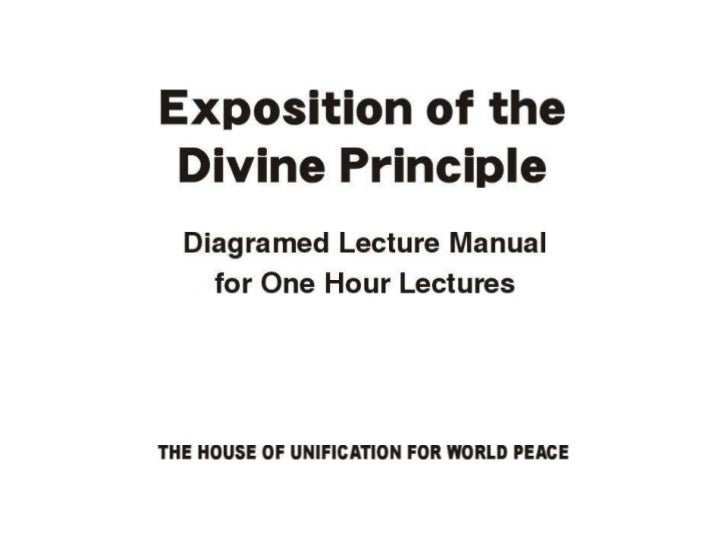1-Hour Manual: Exposition of the Divine Principle