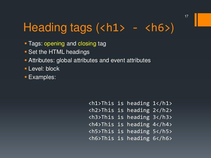 HTML element
