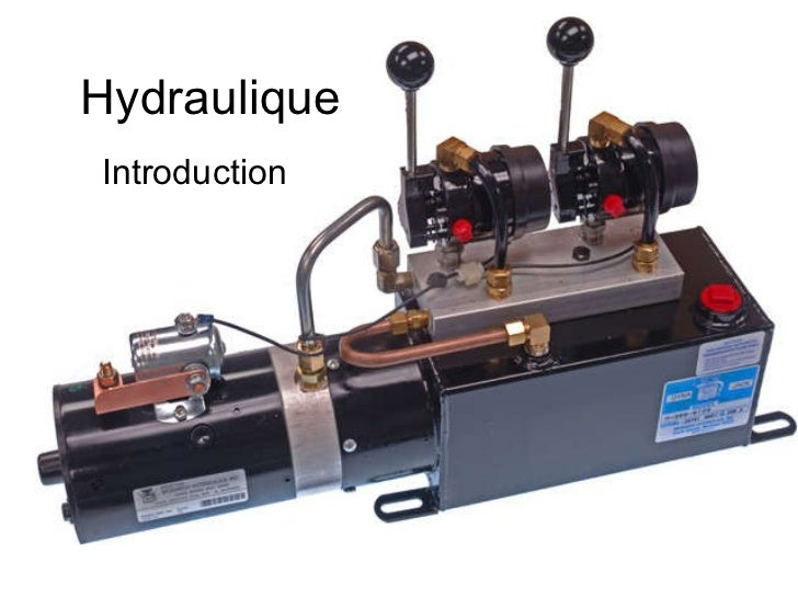 Hydraulique Introduction
