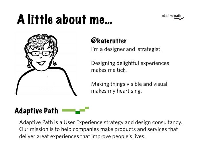 A little about me…                               @katerutter                               I'm a designer and strategist. ...