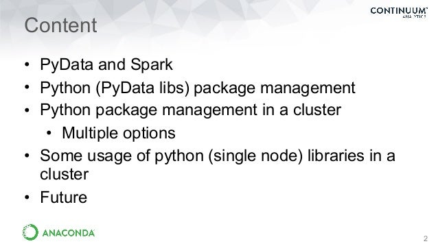 Connecting Python To The Spark Ecosystem Slide 2