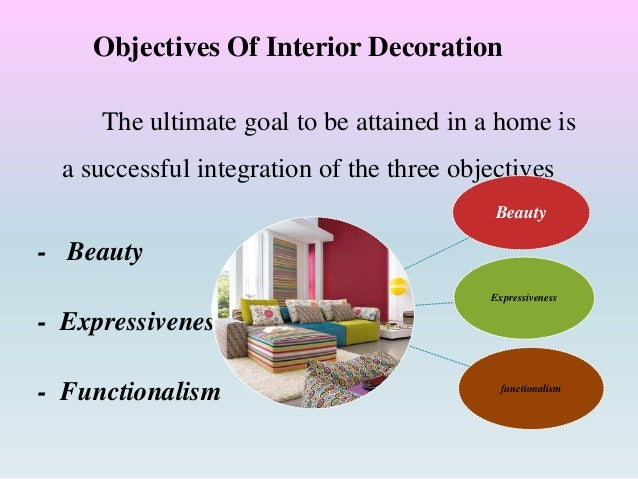 interior design goals and objectives activities