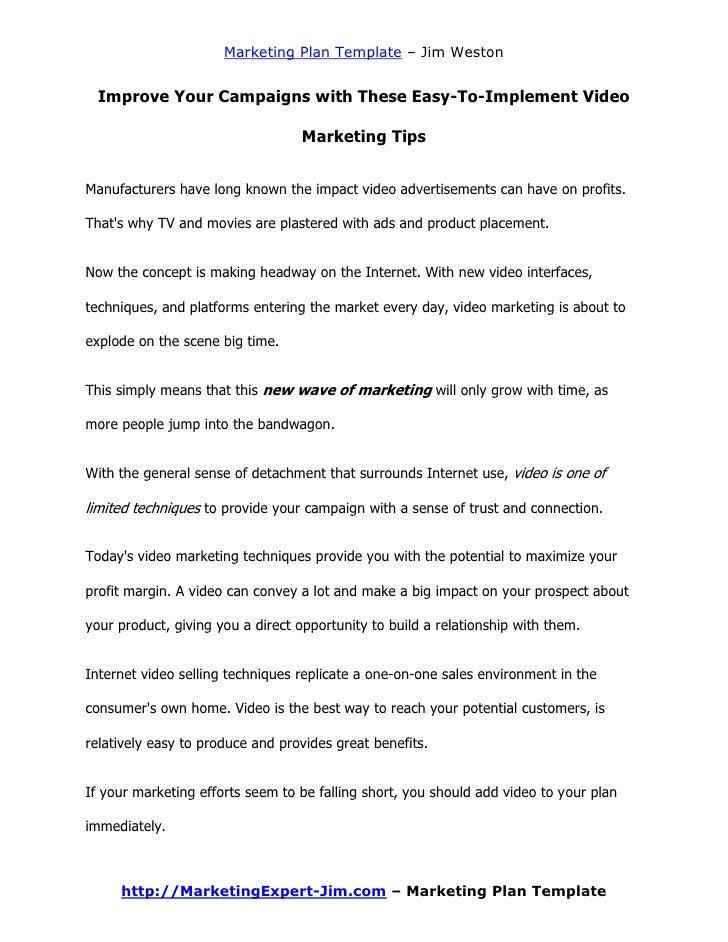 Doc.#581824: Marketing Proposal Templates – Sample Marketing ...