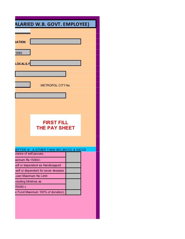 Income tax return preparation for school teacher(w b  govt employees)…